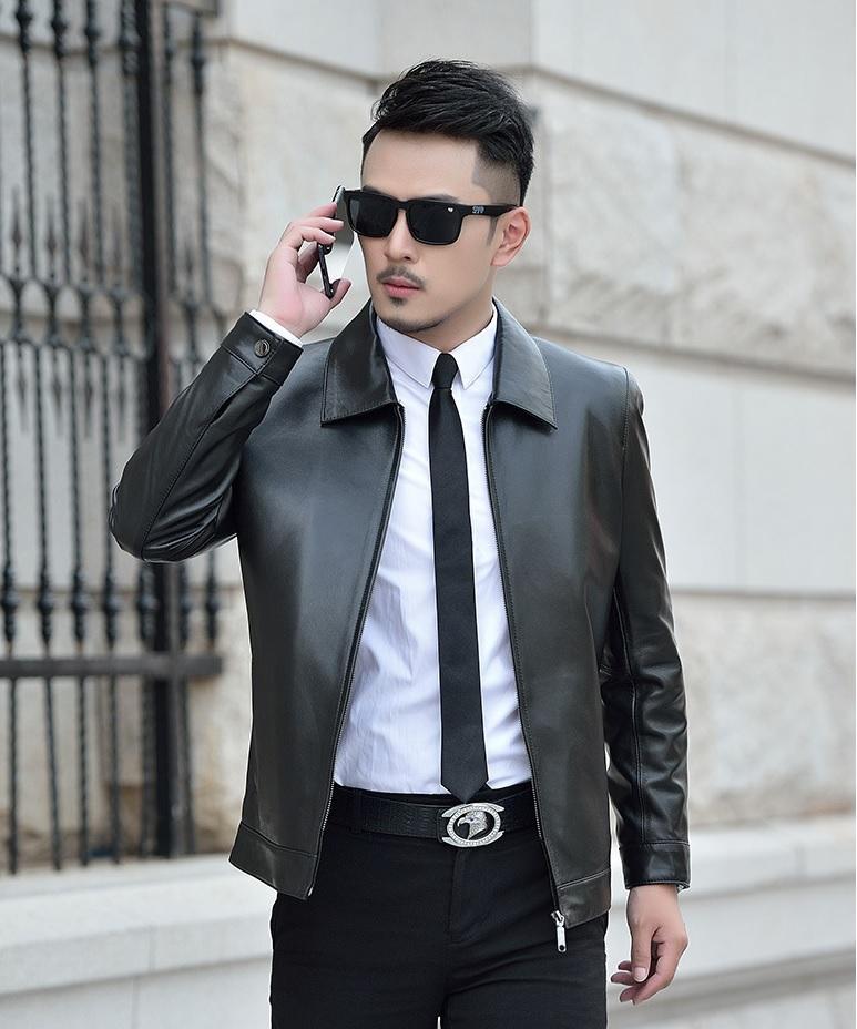 áo khoác da nam nhập khẩu