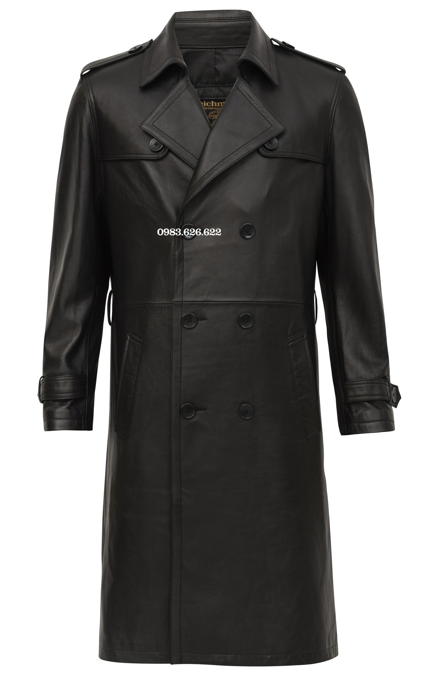 áo khoác măng tô da nam
