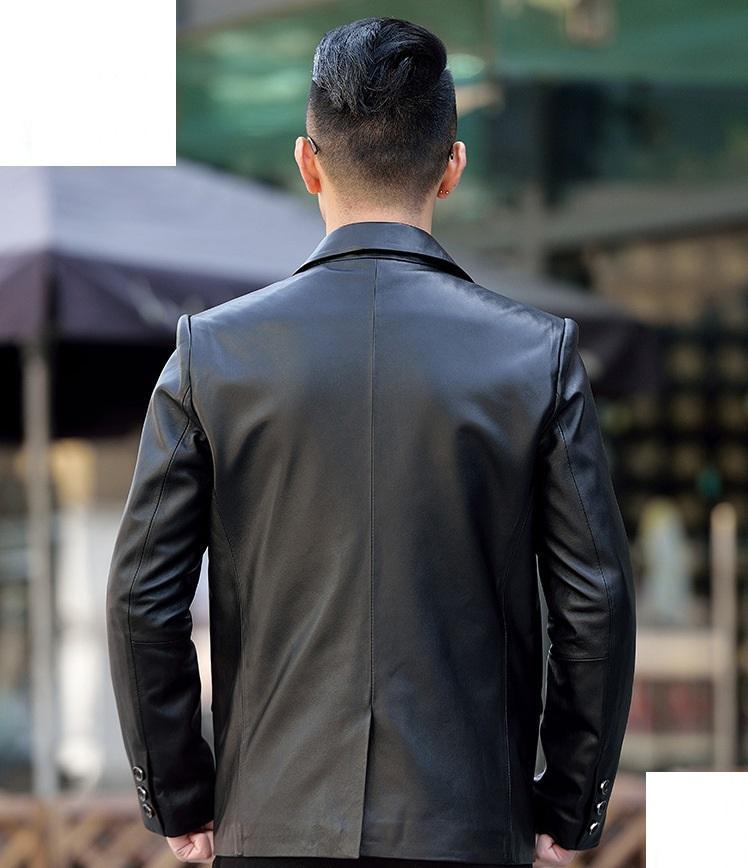 áo vest da thật nam
